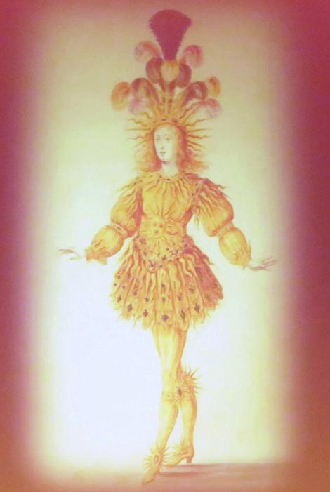 """Der """"Gottgegebene"""" im Sonnenkostüm: Am Hofe von Louis XIV entwickelte sich das Ballett zur anerkannten Kunstform. Der Monarch trat bis zu seinem 30sten Lebensjahr gerne in seinen eigenen Stücken auf. Foto: Francette Levieux"""
