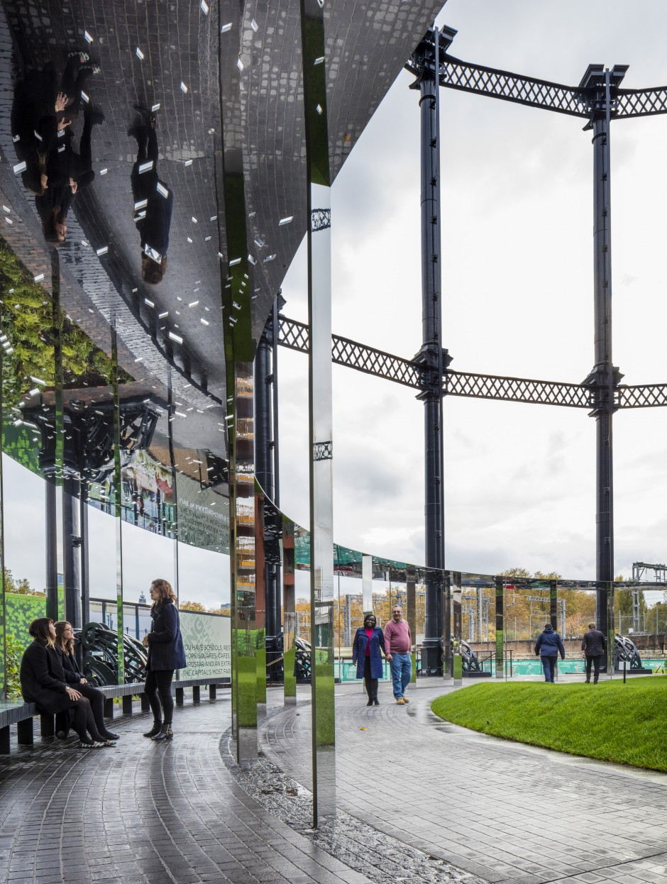 Gasholder Park, King's Cross